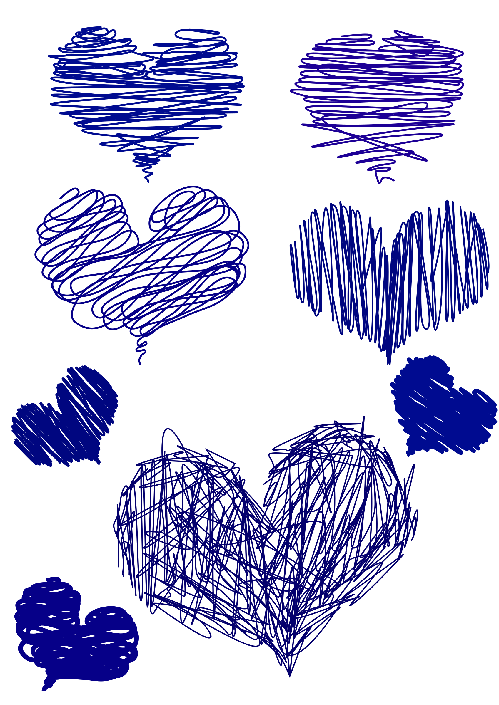 Blue big image png. Heart clipart hand drawn