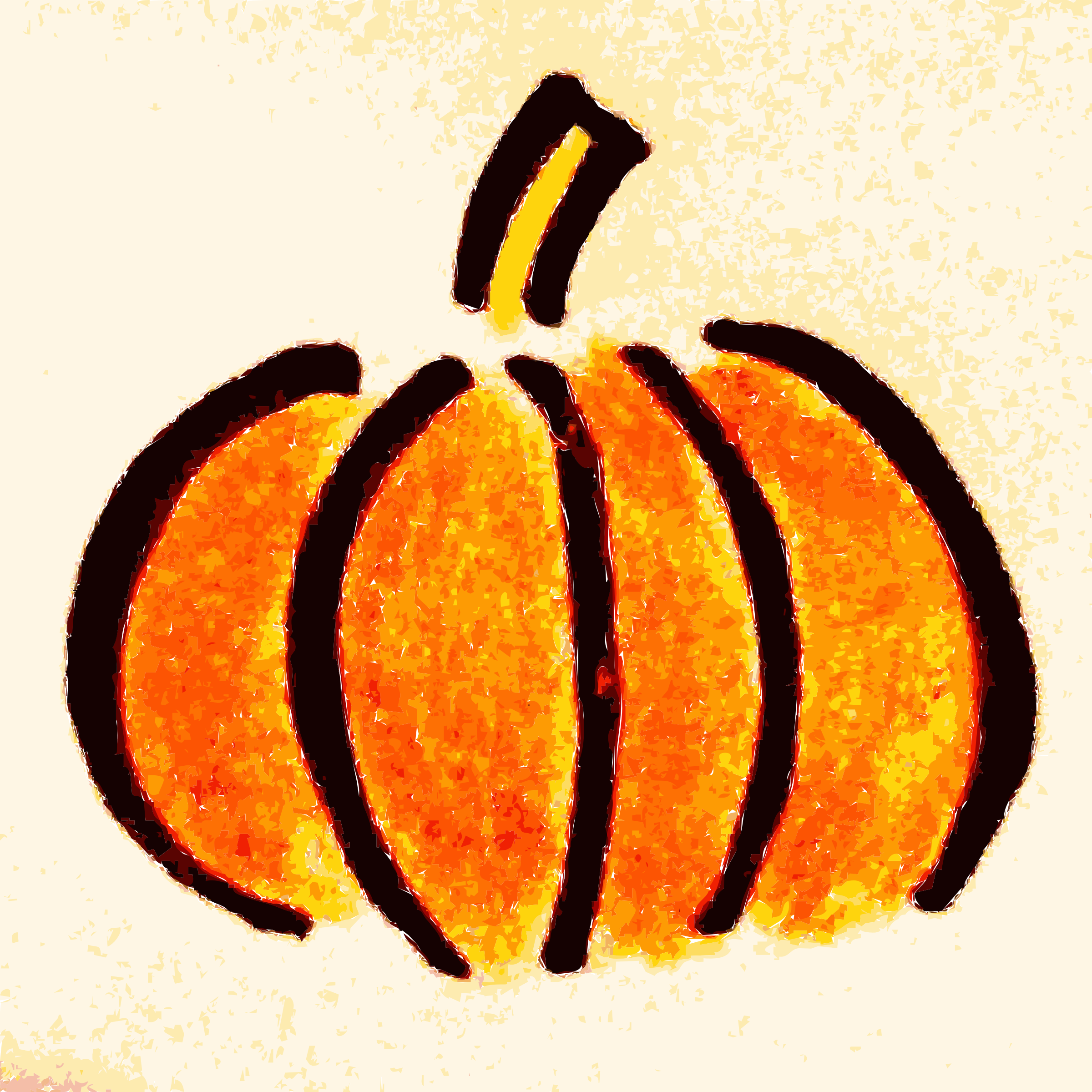 Hand drawn big image. Pumpkin clipart basic