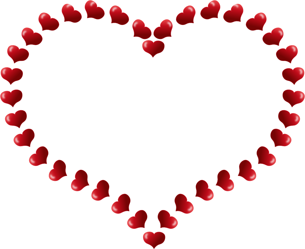 Hearts clipart teacher. Red heart shaped border