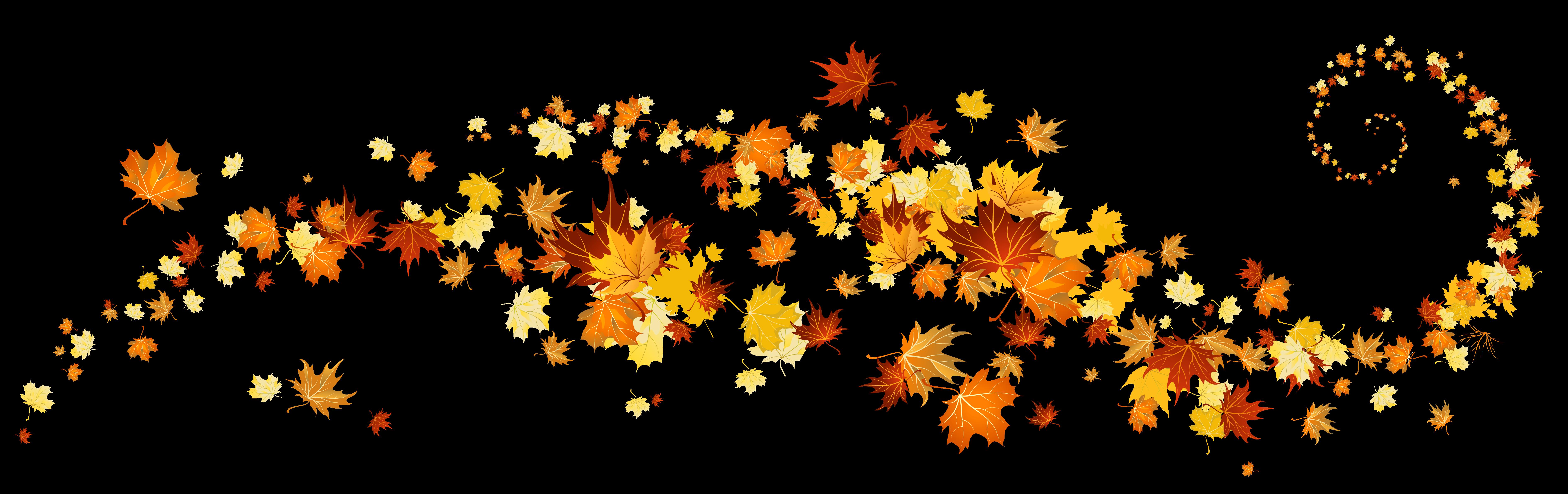 Leaf color clip art. Dog clipart autumn