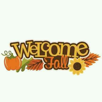 Clipart fall here. Welcome is scrapbook