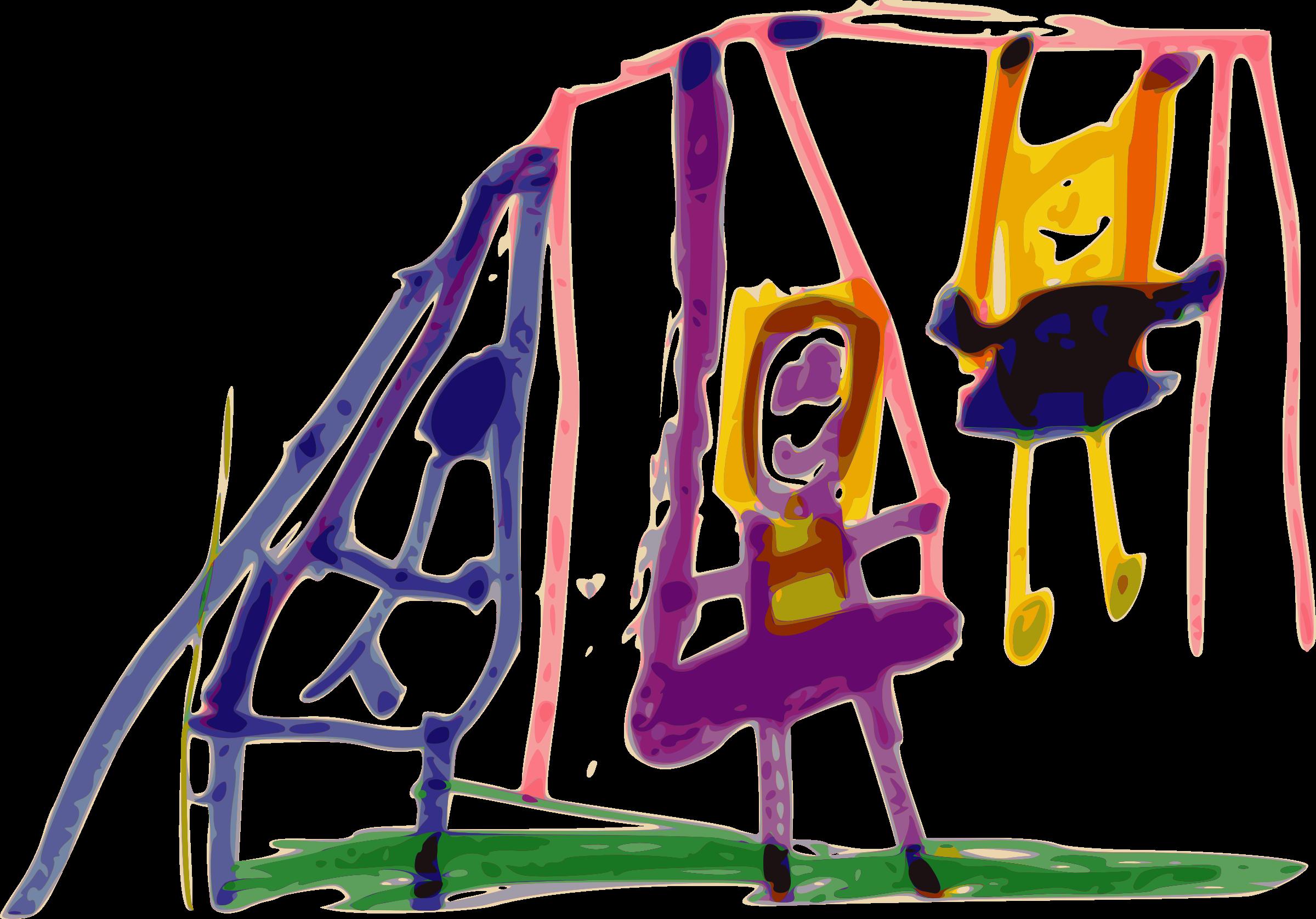 Kindergarten art swing big. Communication clipart active listening