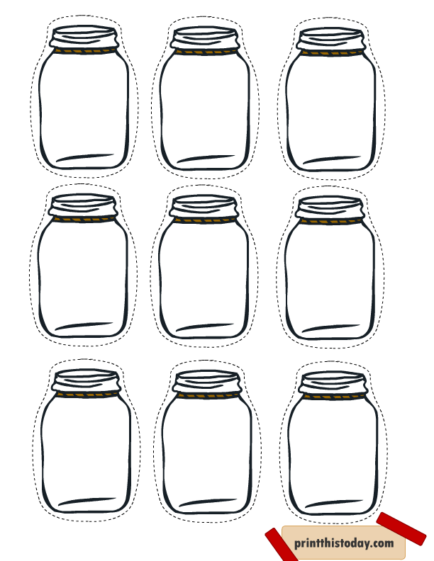 Free printable mason tags. Jelly clipart jar lid