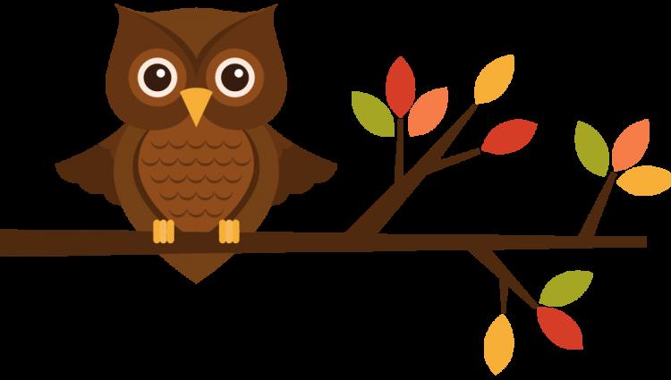 owls clipart fall