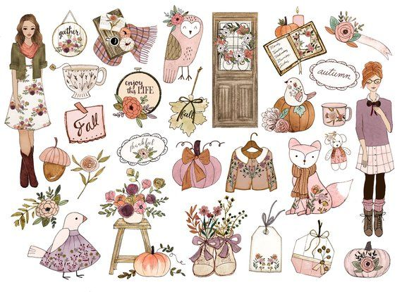 Planner clipart fall.