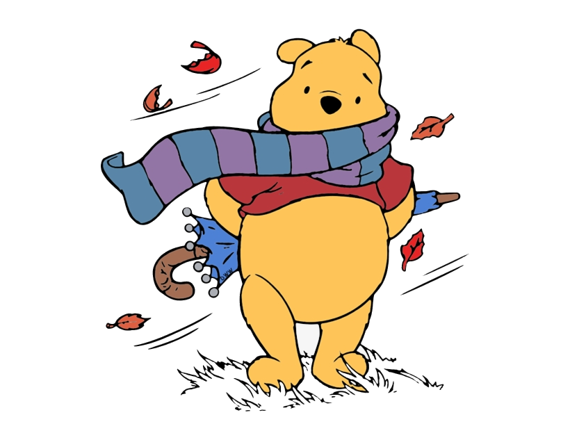 Fall pencil and in. Windy clipart pooh