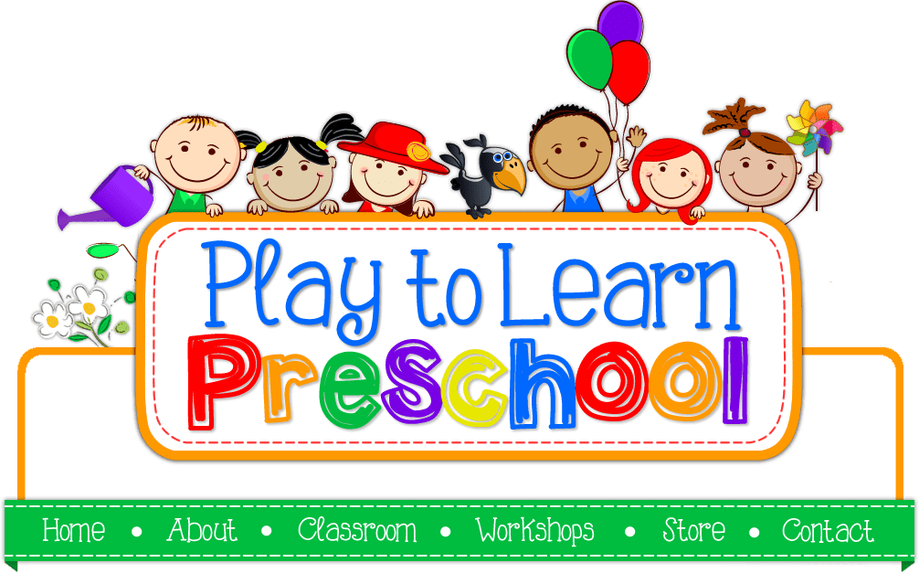 Center time in . Preschool clipart logo