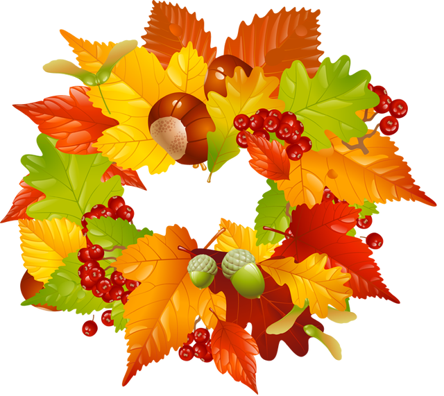October clipart wreath.  collection of fall