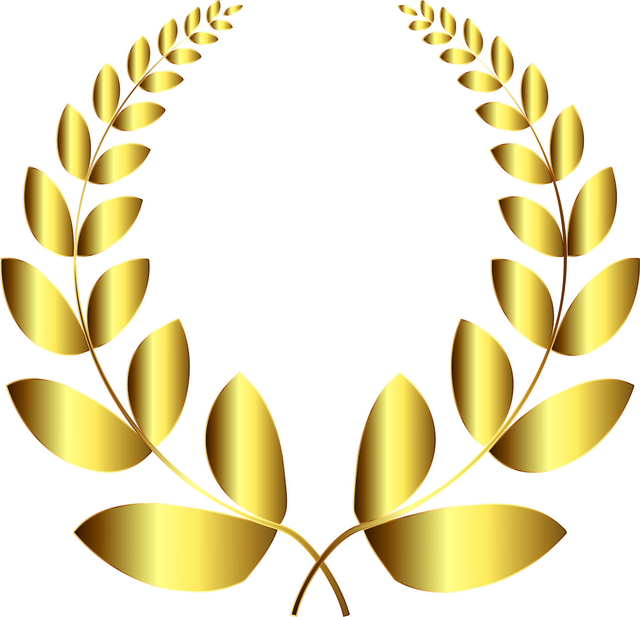 Number 4 clipart gold.  collection of laurel