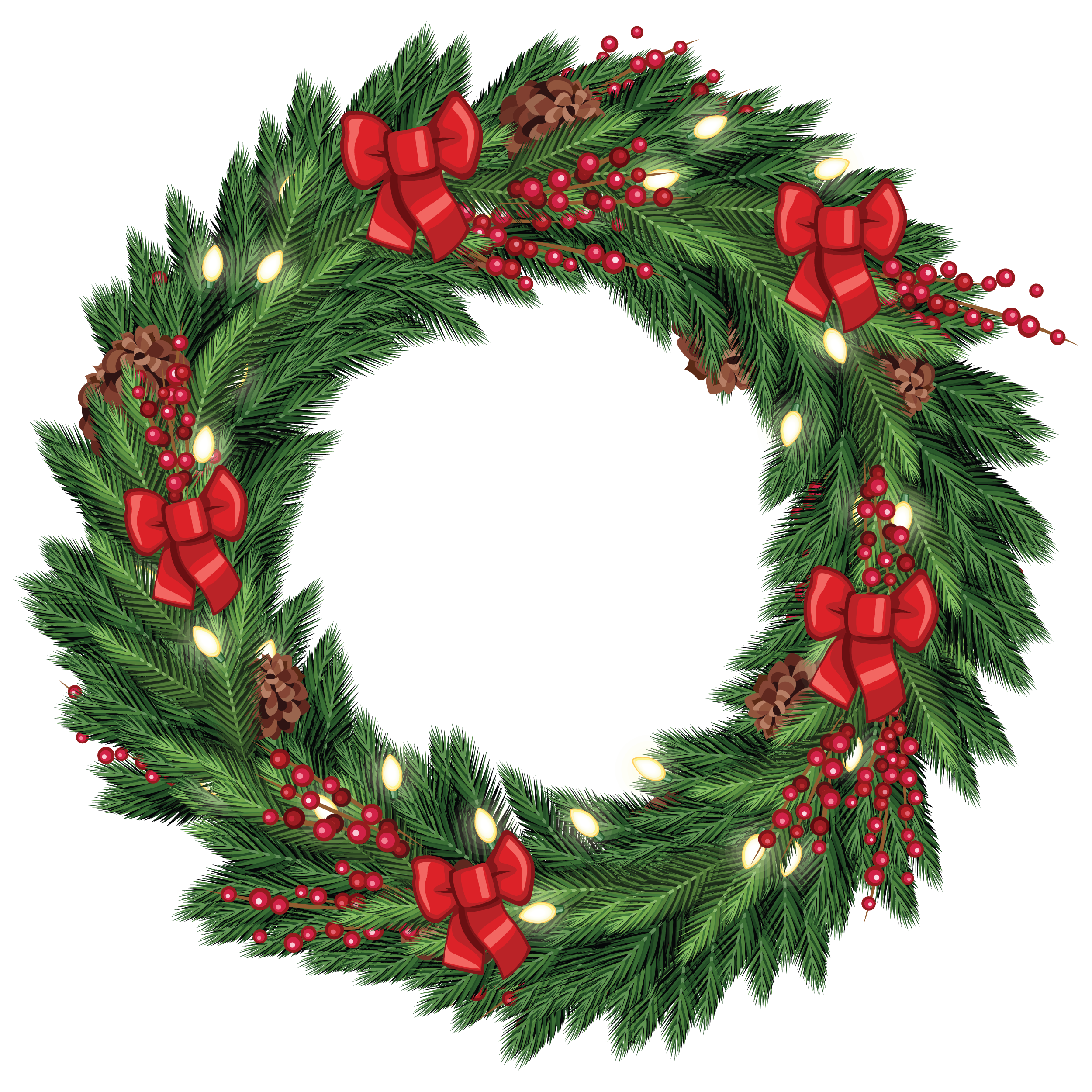 Art free christmas graphic. Fern clipart wreath