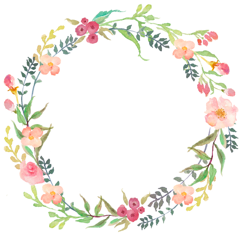 Clipart spring wildflower.  collection of wreath