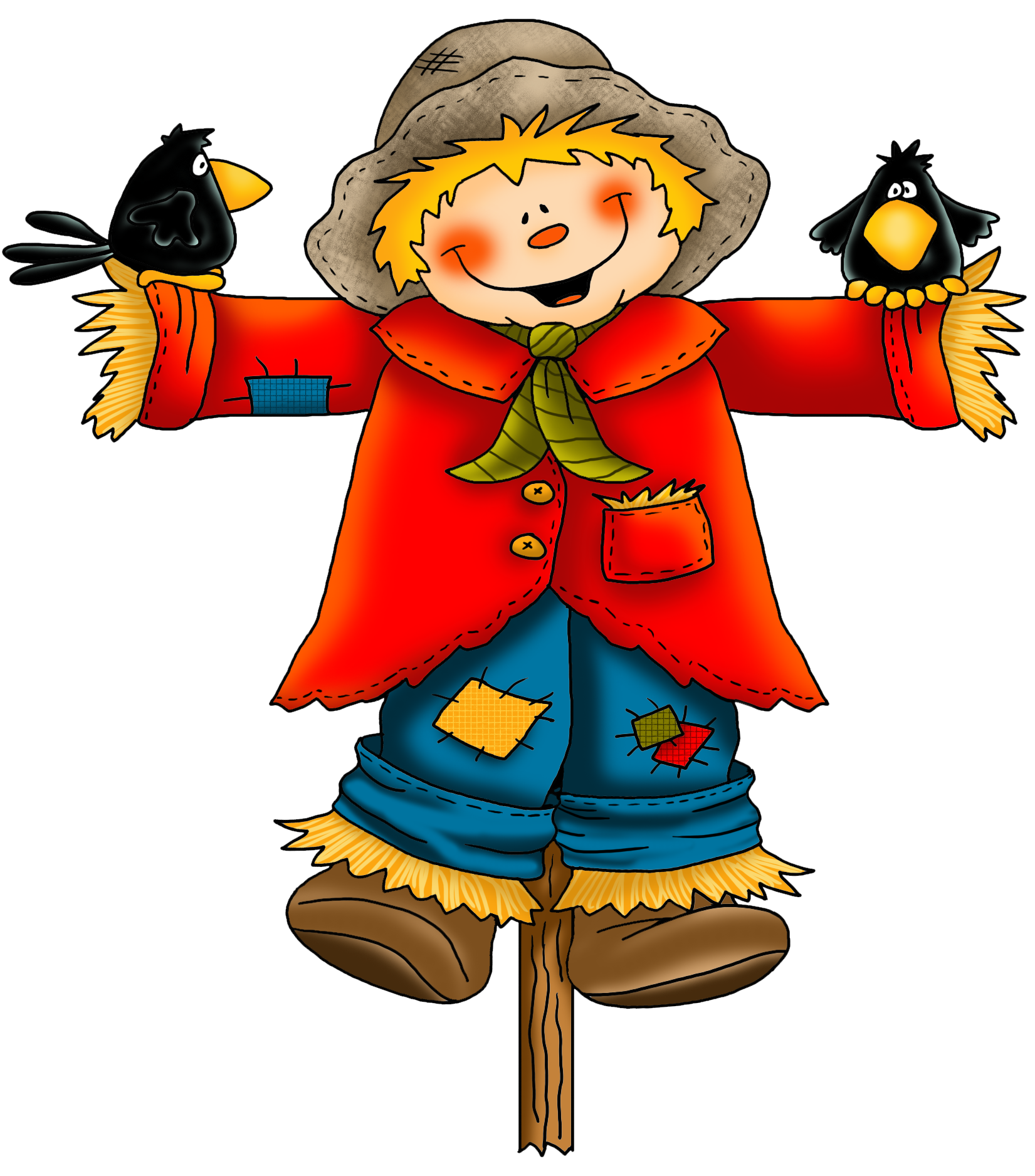 collection of scarecrow. Hat clipart tourist