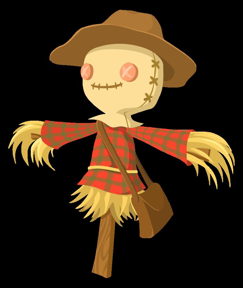 Clipart fall scarecrow. Onlinelabels clip art cartoon