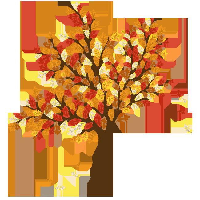clipart tree october