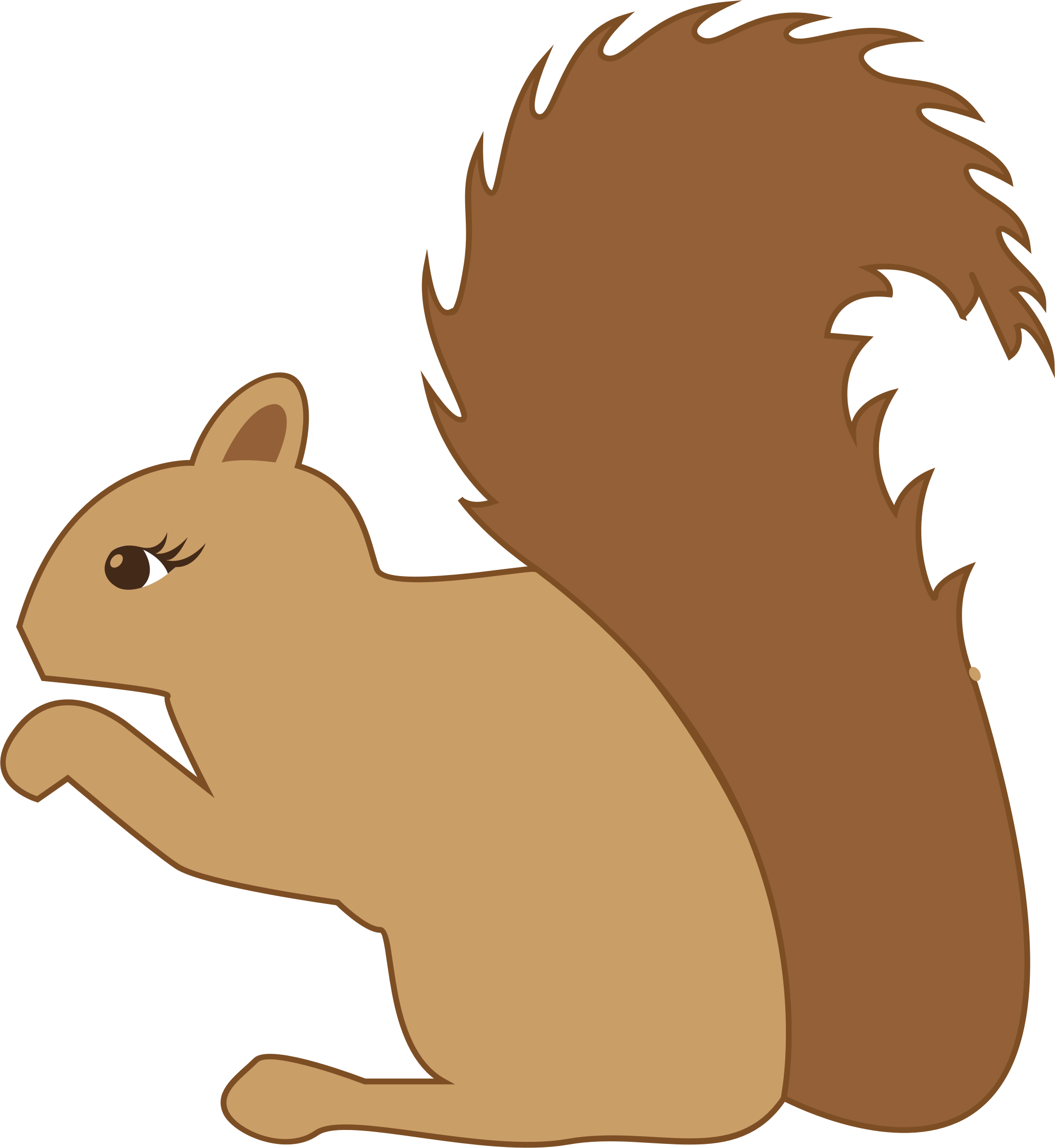 Profile big image png. Woodland clipart squirrel