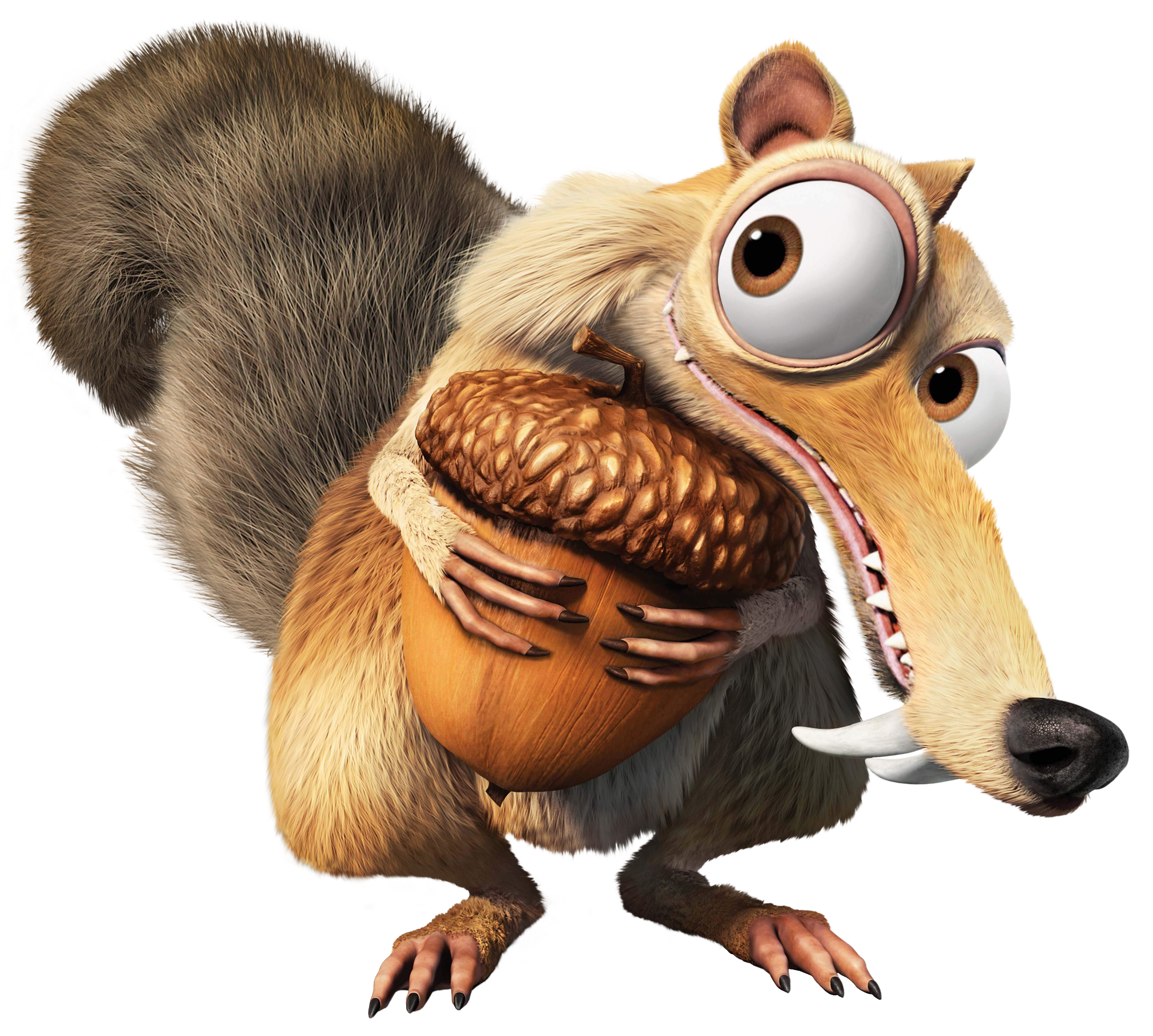 Squirrel scrat transparent png. Otter clipart ice age
