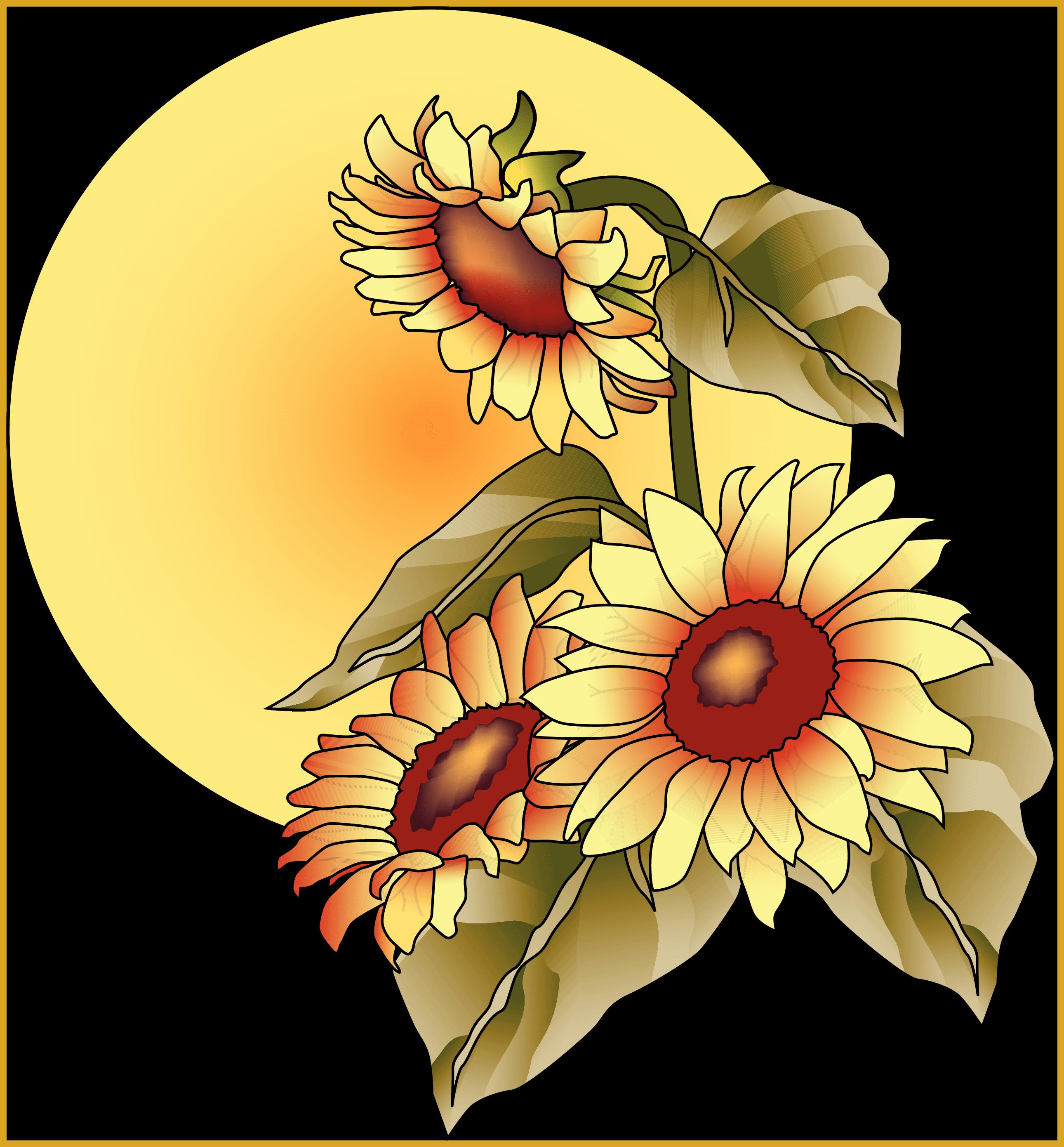 Incredible top clip art. Clipart fall sunflower