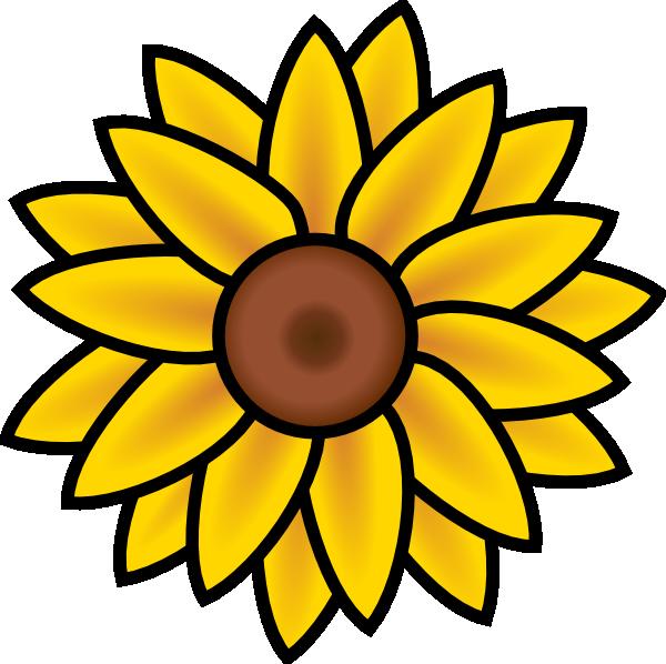 Clipart fall sunflower. Clip art at clker