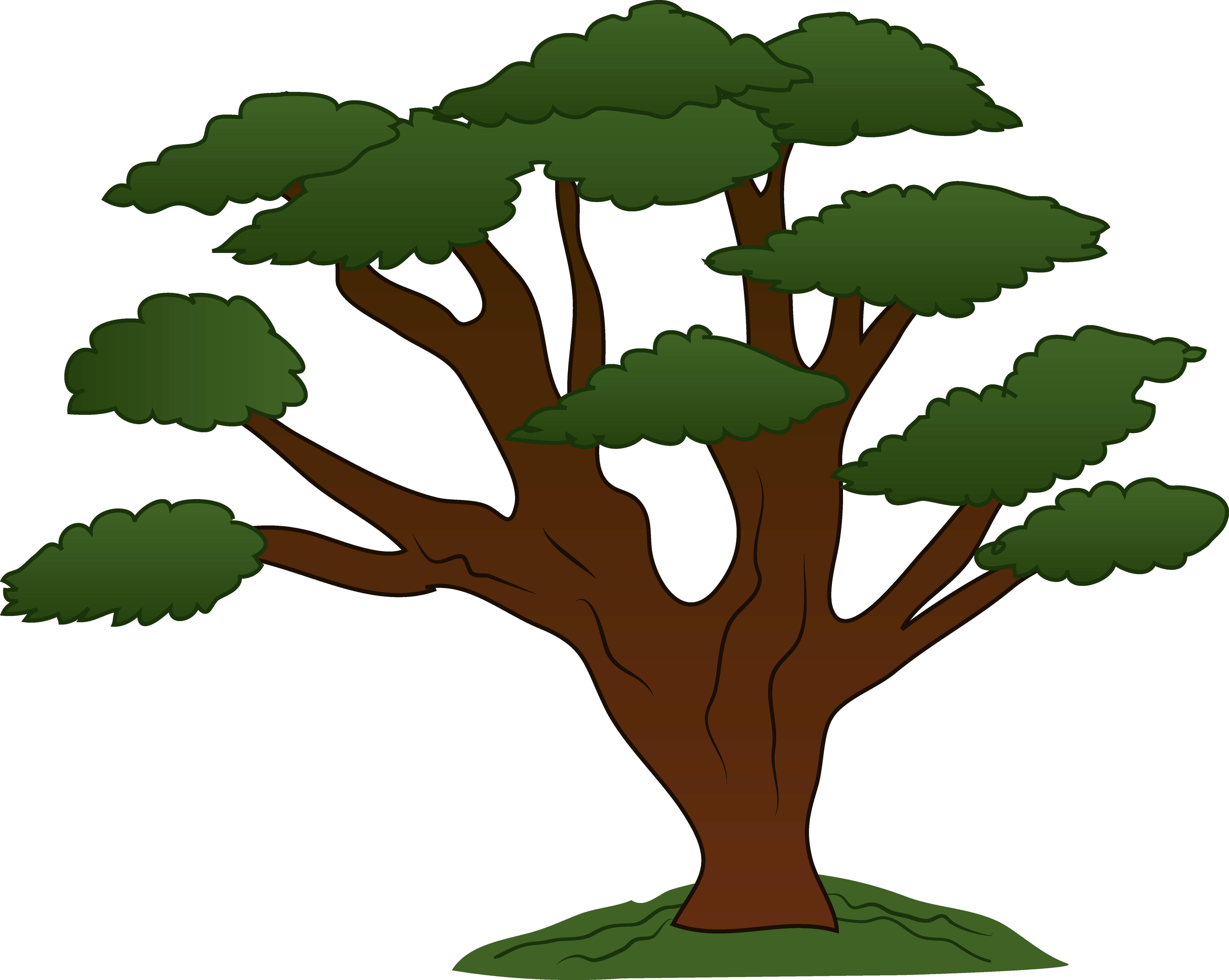 Tree clipart oak. Sweeping design free clip