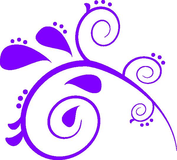 Purple swirl clip art. Paisley clipart background