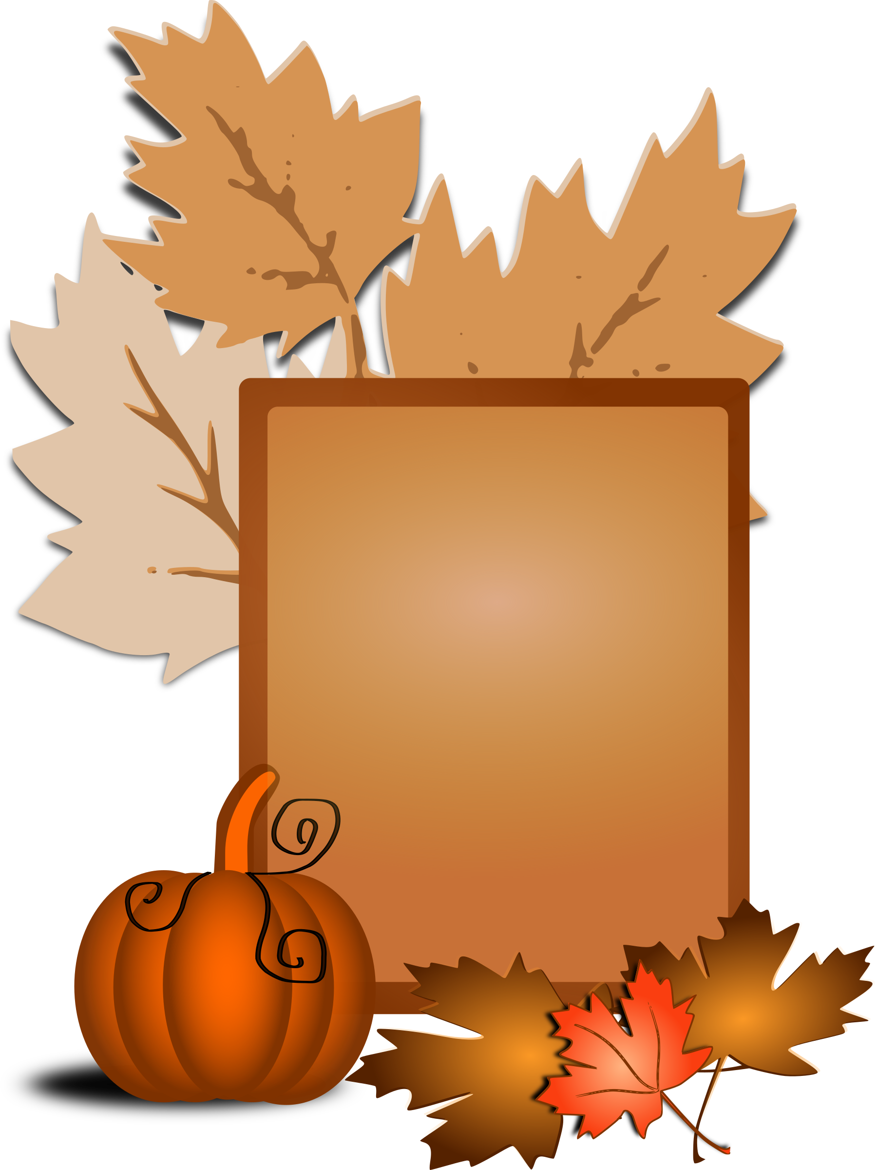 Clipart tree pumpkin. Fall clip art big