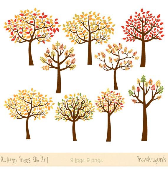 Autumn tree clip art. Clipart fall whimsical