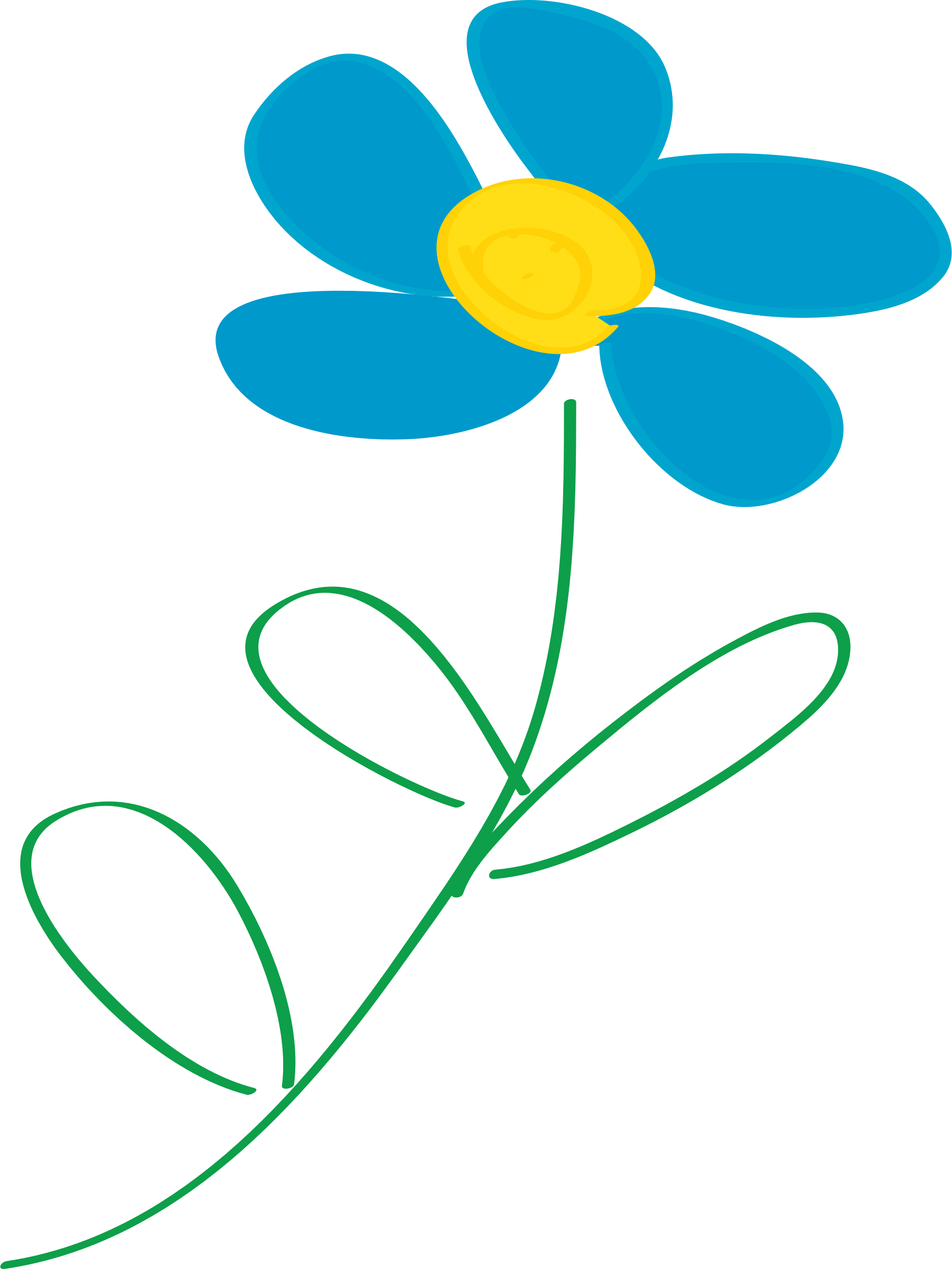 Clipart fall whimsical. Blue flower big image