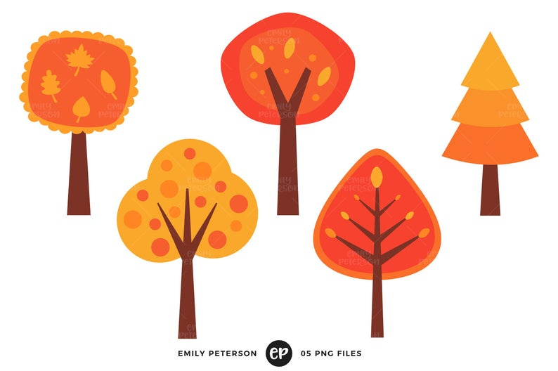 Clipart fall whimsical. Clip art trees commercial