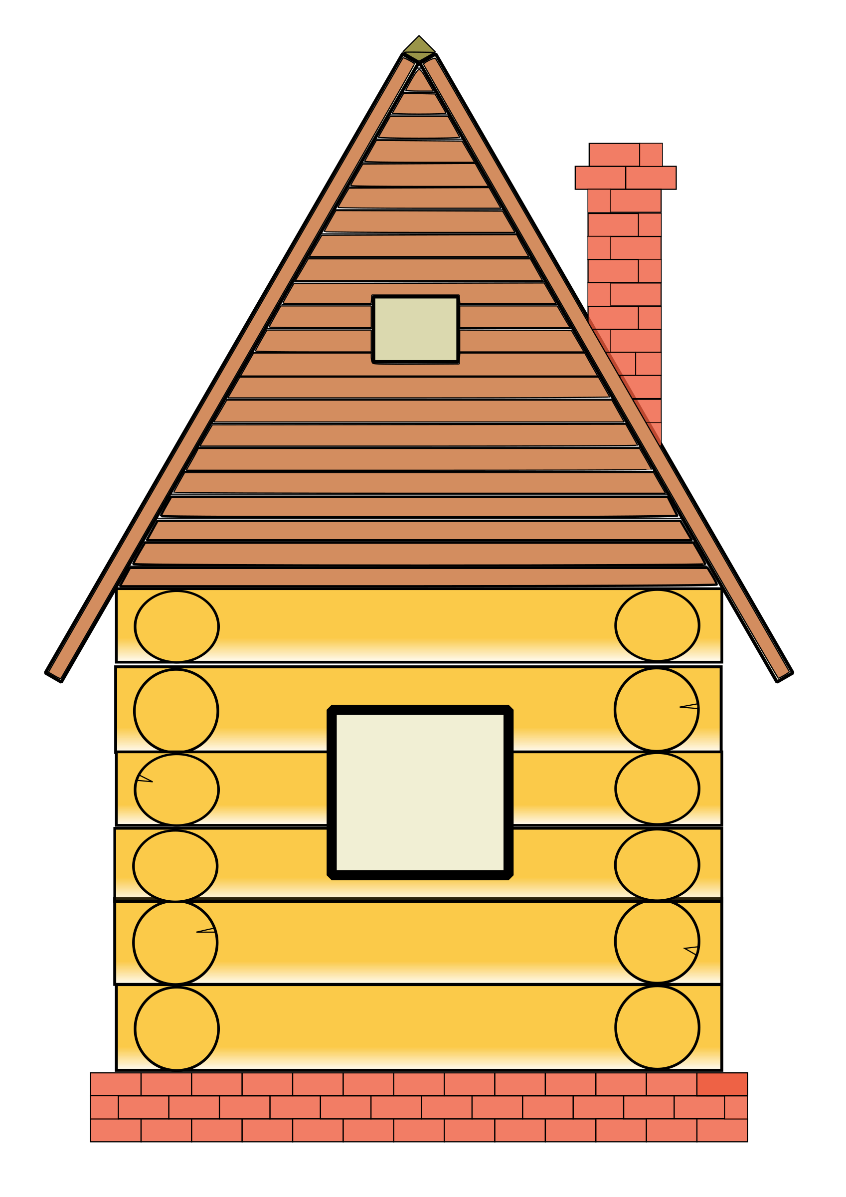 Russian wood big image. Up clipart house