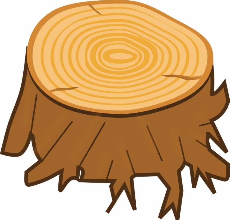 Wood free tree stump. Clipart fall woods