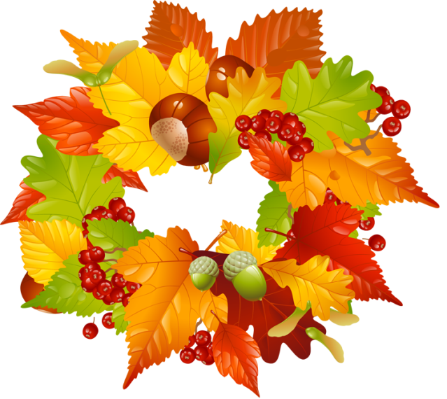 Colorful clip art for. Clipart trees thanksgiving