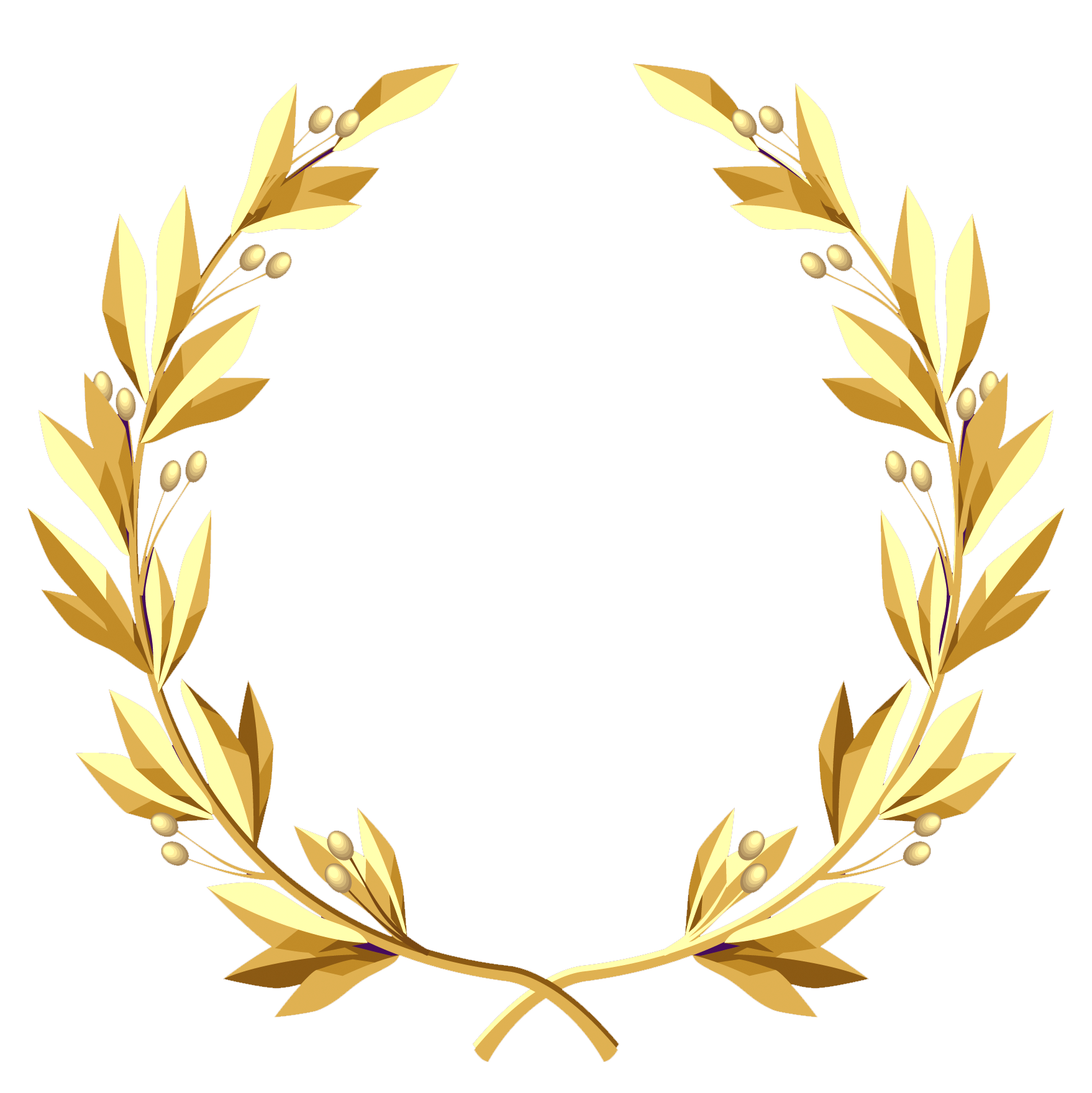 Halloween clipart wreath. Transparent gold png picture
