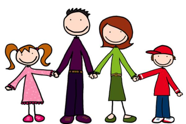 Cartoon . Hug clipart family