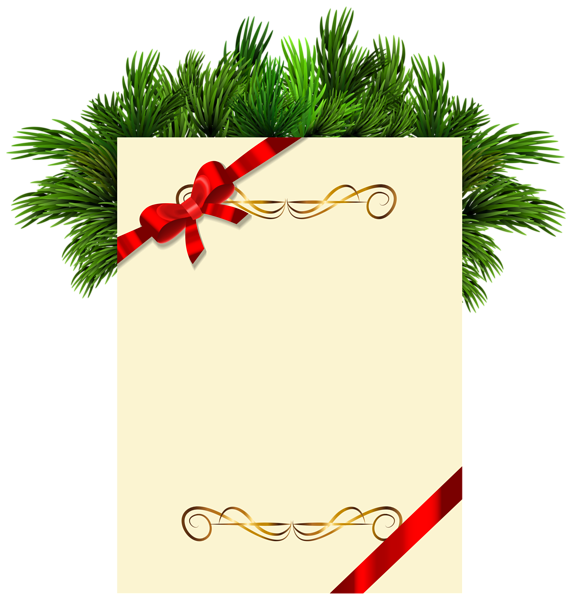 Christmas blank with pine. Donuts clipart word