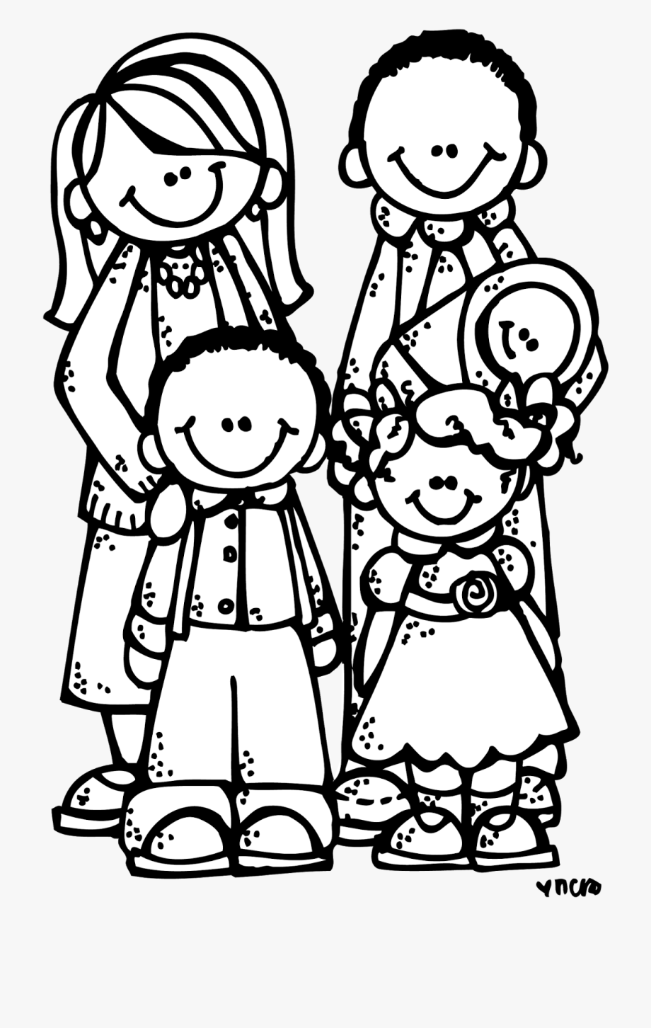 Families clipart black and white. Family my