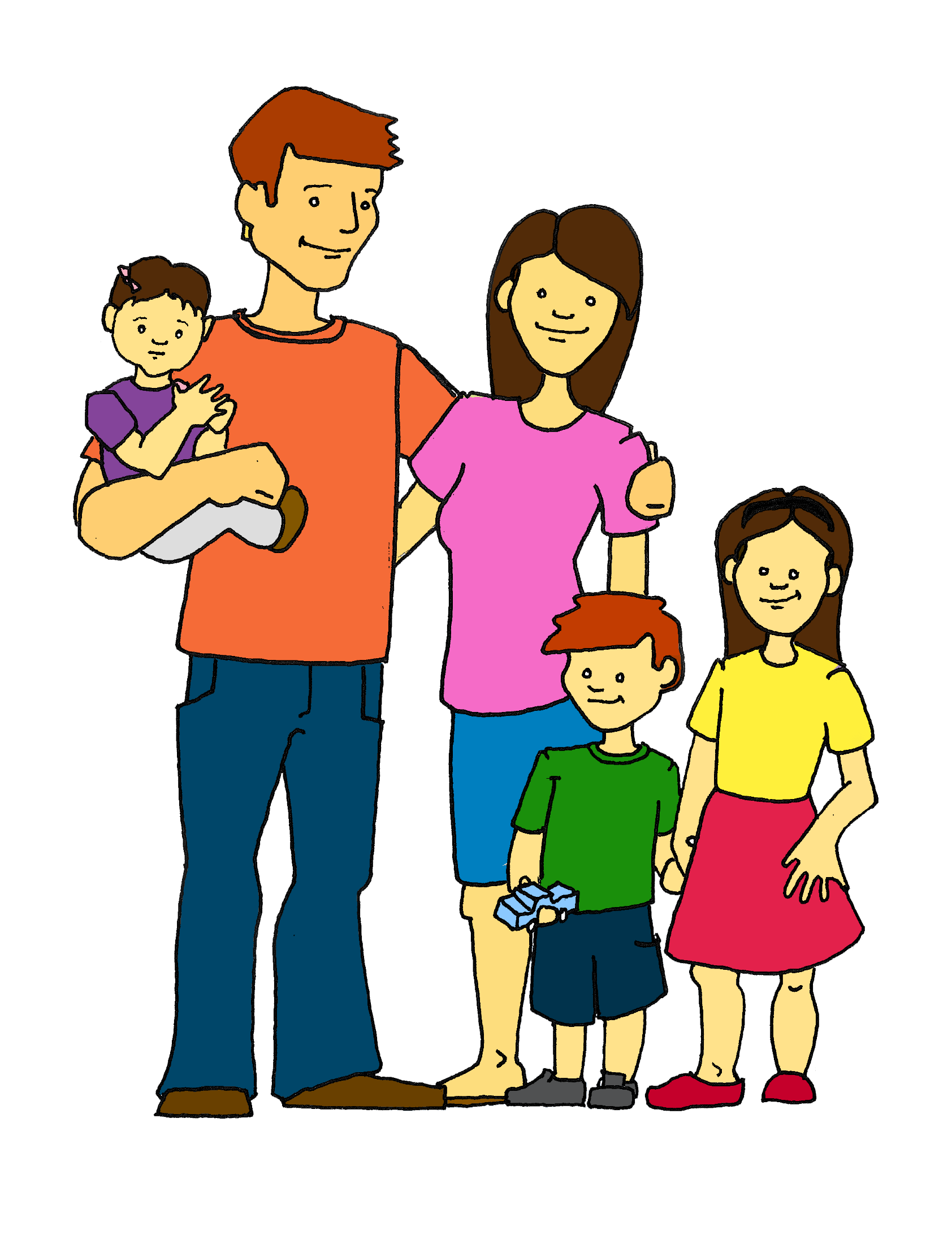 collection of family. Families clipart boy