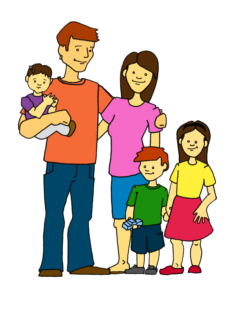 collection of happy. Families clipart animated