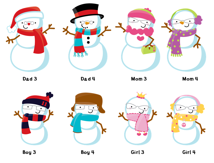 Snowman with snowflakes thank. Clipart family christmas