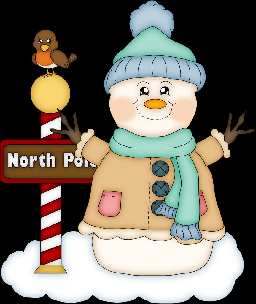 Snow christmas snowman clip. Clipart winter family