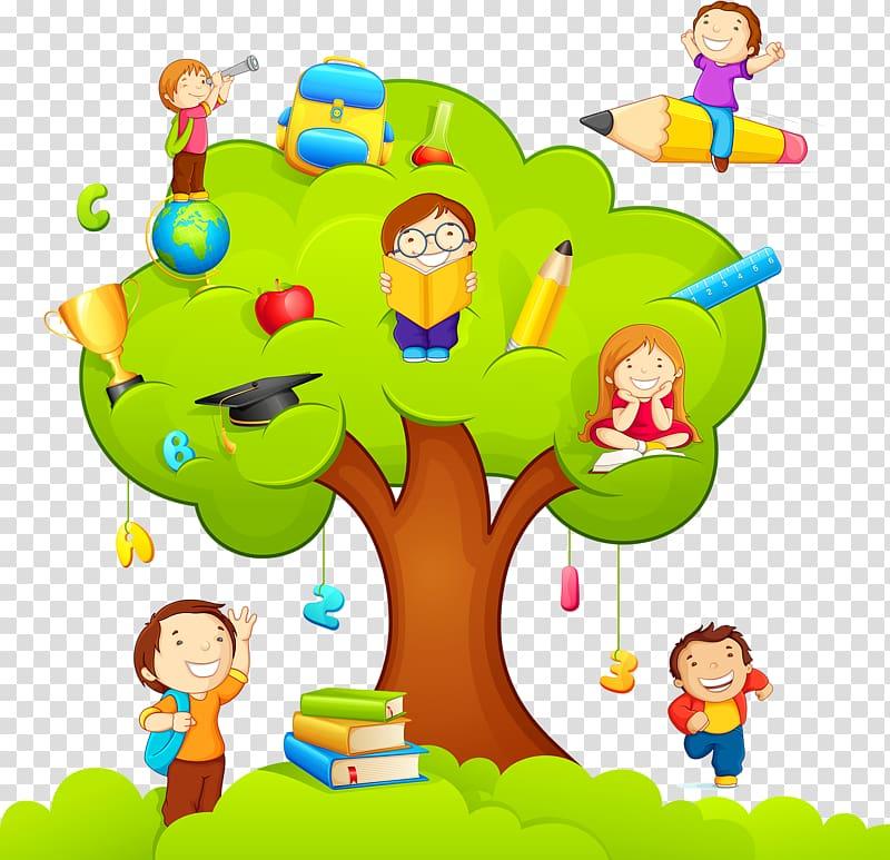 Study clipart in school. Family tree illustration classroom