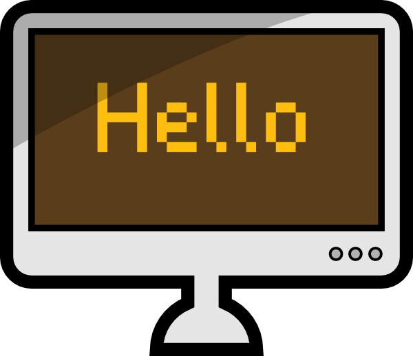 Office clipart monitor. Computer lcd screen clip