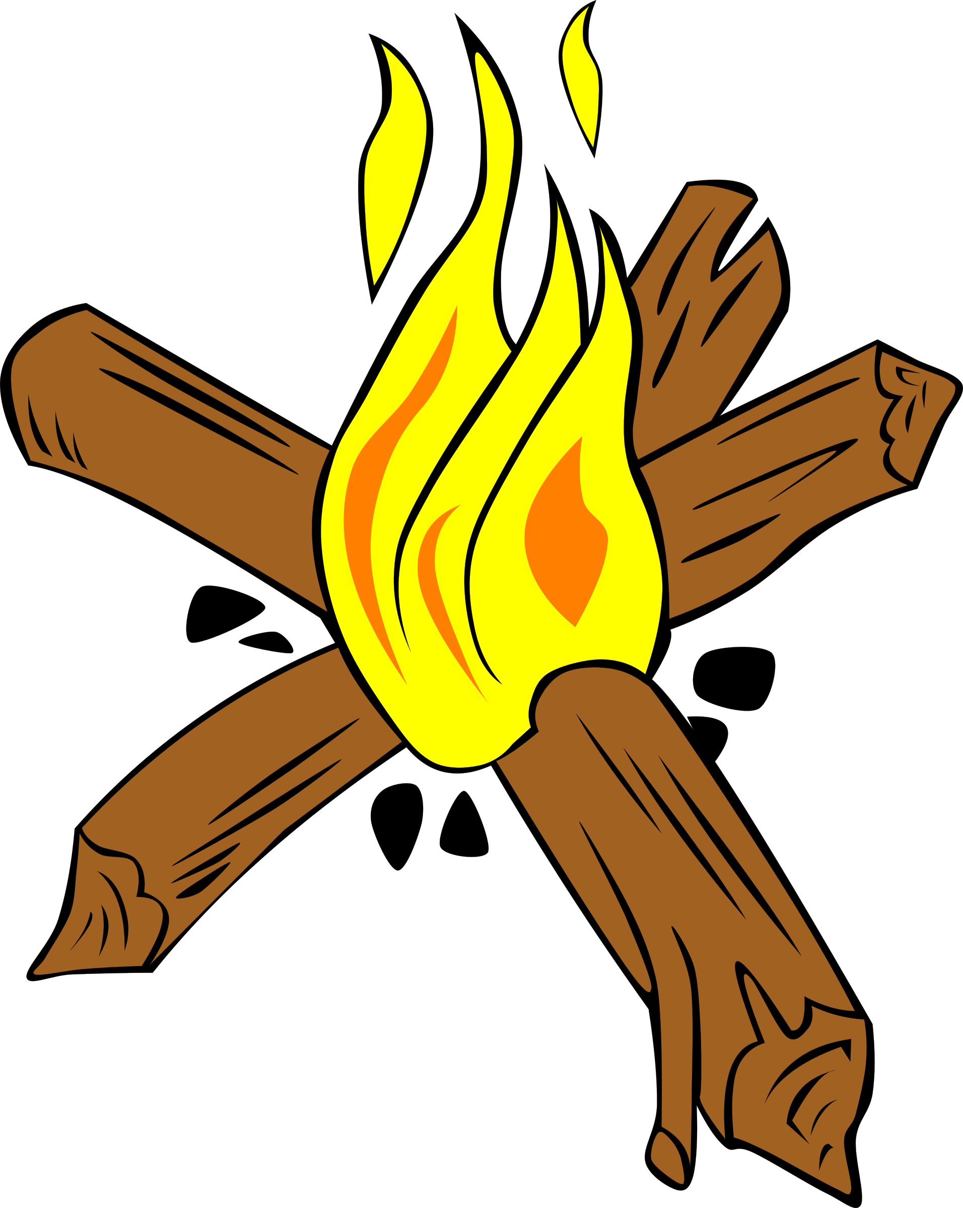 Campfires and cooking cranes. Log clipart campfire