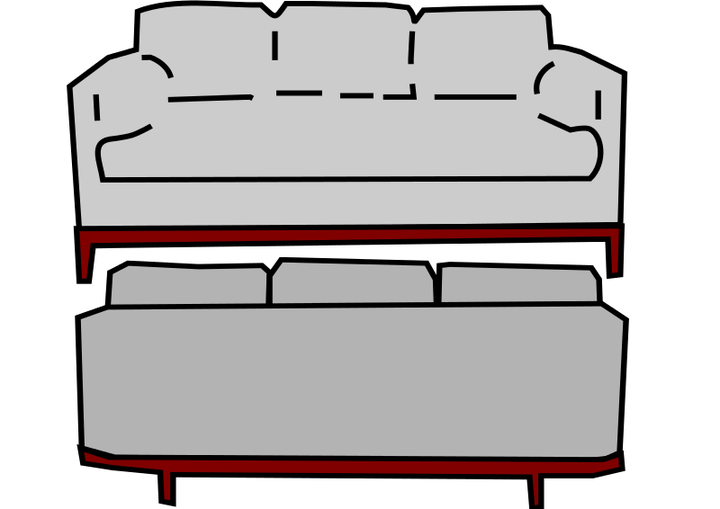 Couch clipart old couch. Back graphics illustrations free