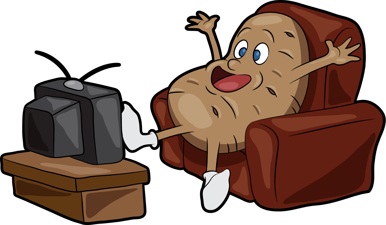 Clipart walking mobility. Couch potato news upcoming