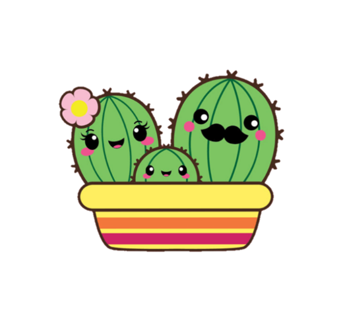 Succulent clipart kawaii, Succulent kawaii Transparent ...