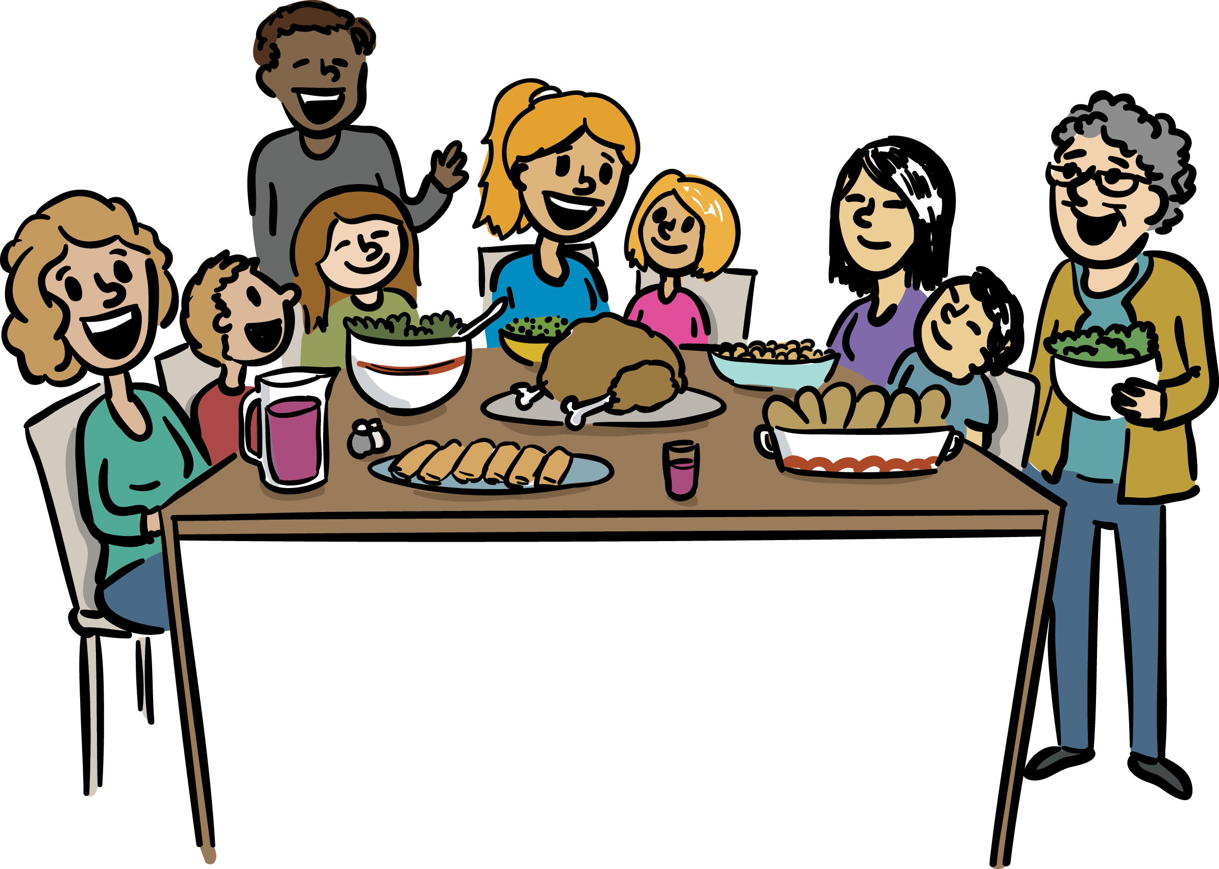 Restaurants clipart family dinner time. At getdrawings com free