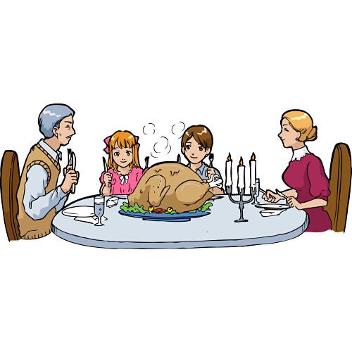 Dinner clipart fine dining. Family table clip art
