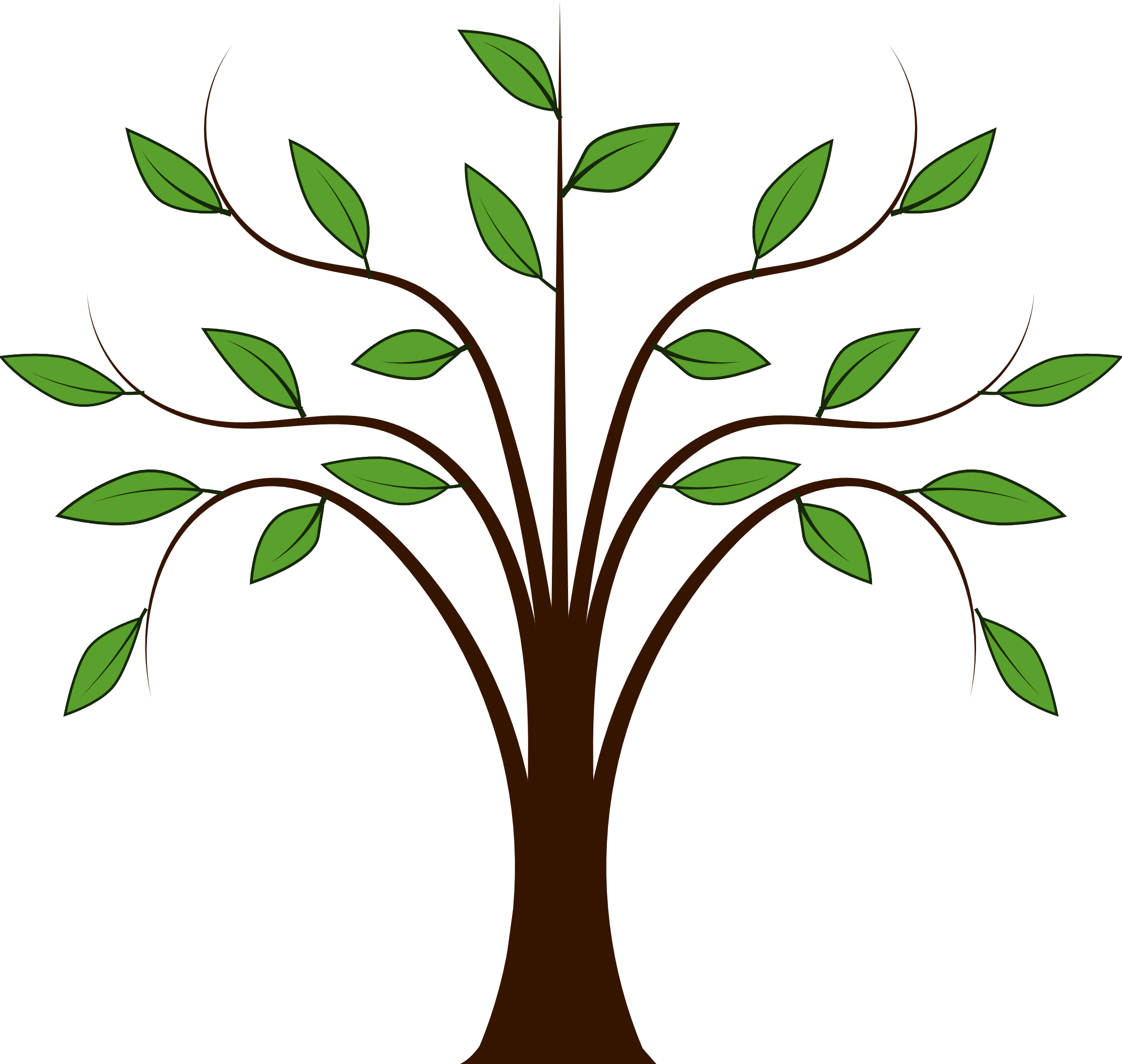 Simple family drawing at. Tree clipart vector