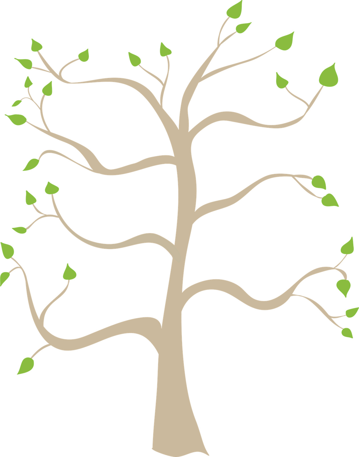 Clip art related keywords. Words clipart family tree