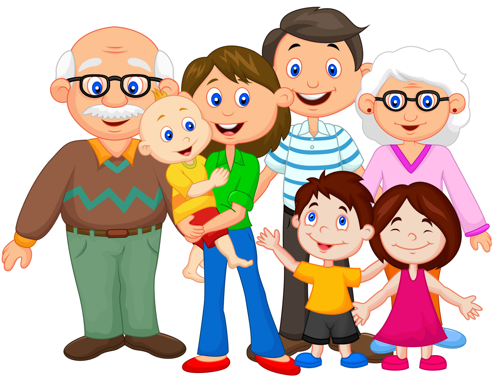 Families clipart art. Extended family clip a